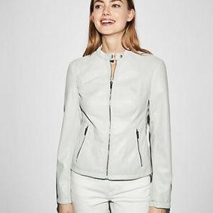 Express Women's Minus Leather Moto Jacket White XS